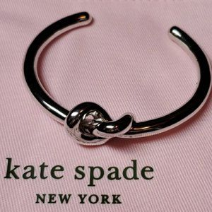 "Kate Spade BEAUTIFUL ""Loves Me Knot"" Cuff Bracelet"